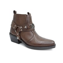 BOTA TEXANA COUNTRY MASCULINA COURO 9005 - ESCRETE - CAFE