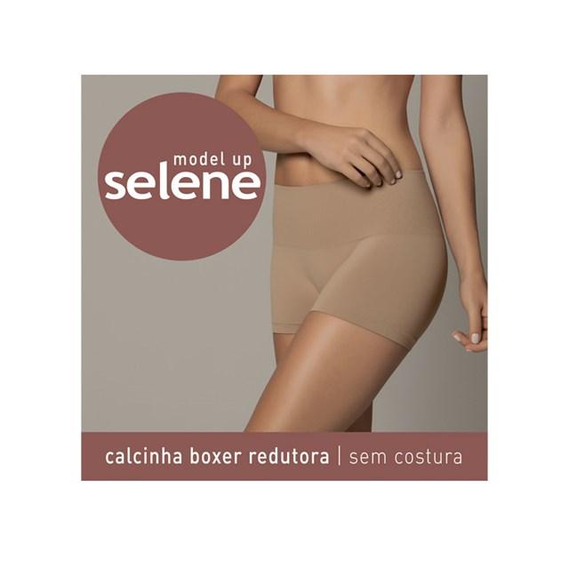 CALCINHA BOXER REDUTORA 20040 - SELENE - CHOCOLATE