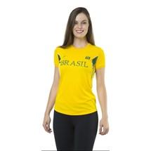 CAMISETA BABY LOOK FEMININA BRASIL 125705 - ELITE - AMARELO/VERDE/BRANCO