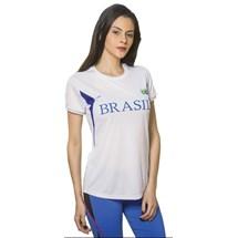 CAMISETA BABY LOOK FEMININA BRASIL 125705 - ELITE - BRANCO/AZUL/AZUL