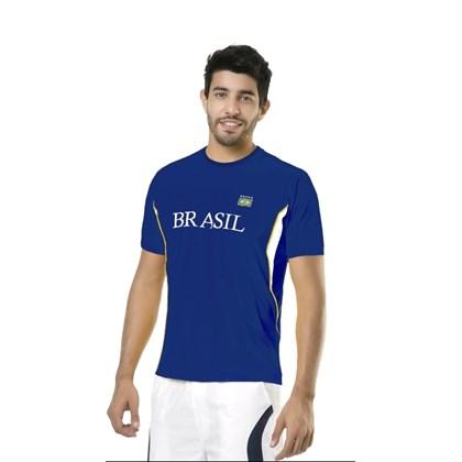 ad3b677ef7 CAMISETA MASCULINA DRY LINE BRASIL 125704 - ELITE - AZUL BRANCO AMARELO