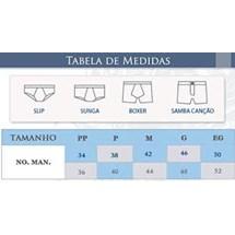CUECA BOXER 93% POLIAMIDA 00766 - LUPO - BRANCO
