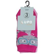 KIT 3 MEIA BASIC INFANTIL 2678 - LUPO - PINK/BRANCO/ROSA