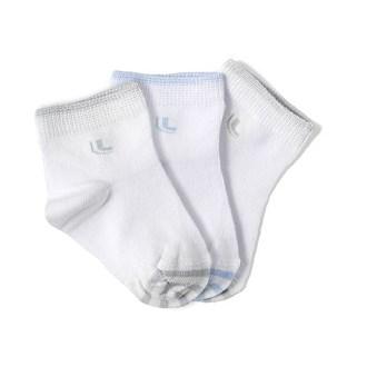 KIT MEIA SOQUETE INFANTIL 68%ALGODÃO 2835 - LUPO - CINZA/AZUL/CINZA