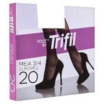MEIA 3/4 FIO 20 W06106 - TRIFIL - CACAU