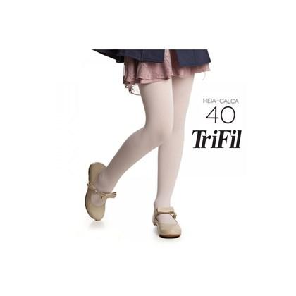 9b09f52a3 MEIA CALÇA INFANTIL FIO 40 W06834- TRIFIL - ROSA - Linha Conforto