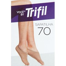 MEIA SAPATILHA FEMININA FIO 70 WX6113 - TRIFIL - NATURAL