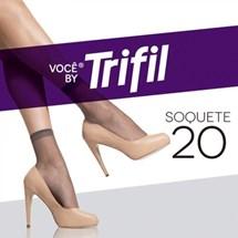 MEIA SOQUETE FIO 20 W06126 - TRIFIL - NATURAL CLARO