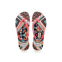 SANDALIA CHINELO SLIM TRIBAL - HAVAIANAS - BRANCO/CORAL NEW