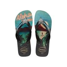 SANDALIA CHINELO SURF - HAVAIANAS - PRETO/PRETO/TURQUESA