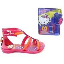 SANDALIA HELLO KITTY COLOR FUN 21226 GRENDENE - ROSA/LARANJA