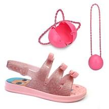 SANDALIA INFANTIL LOL BAG 21836 - GRENDENE - ROSA/ROSA GLITTER