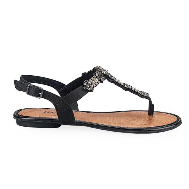 SANDALIA RASTEIRA FEMININA Q2372 MISSISSIPI (47) - PRETO