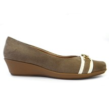 SAPATO ANABELA CONFORTO 144030 - PICCADILLY (A40) - TAUPE