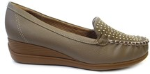 SAPATO MOCASSIM ANABELA 117007 - PICCADILLY (52) - TAUPE