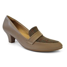 SAPATO SALTO GROSSO 703015 - PICCADILLY (A52) - TAUPE