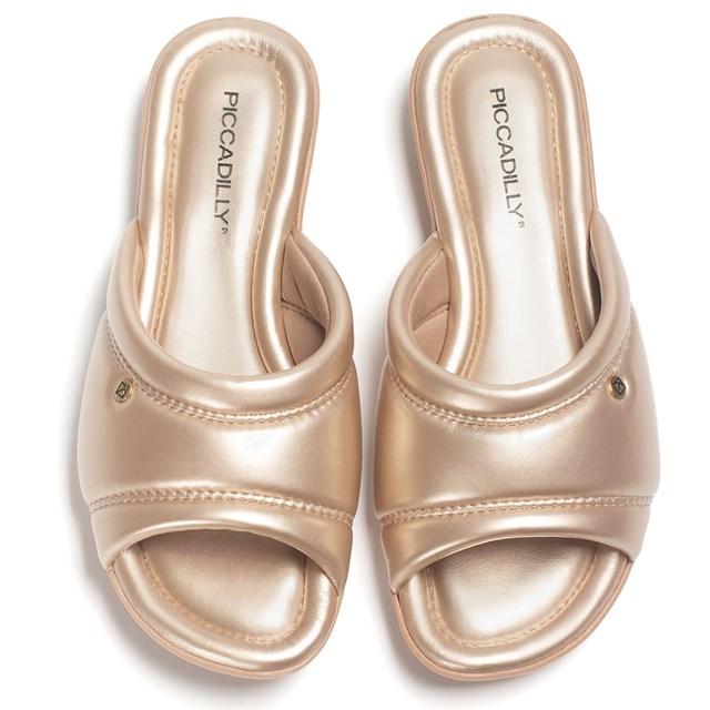 TAMANCO FEMININO CONFORTO 503107 PICCADILLY L212 - ROSE GOLD