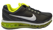 TENIS AIR MAX 2013 LEATHER 599455 NIKE (27) - PRETO/LIMAO