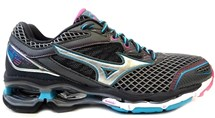 TENIS WAVE CREATION 18 4136571 - MIZUNO (08) - GRAFITE/AZUL/ROSA
