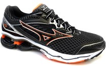 TENIS WAVE CREATION 18 4136571 - MIZUNO (08) - PRETO/LARANJA