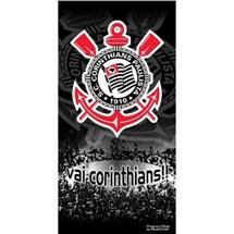 TOALHA CORINTHIANS VELUDO 45090 - BOUTON - PRETO