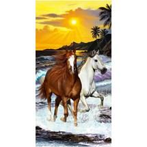 TOALHA DE PRAIA RESORT VELUDO - BOUTON - HORSE